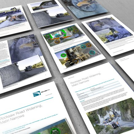 9 pages of Matiri Narrows Rocksaw Road Widening document