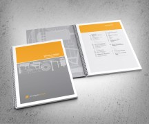 Windsor Urban brand use document cover and inside front cover spread