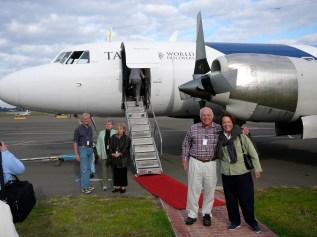 Debarking Pionair Australia Convair VH-PDV, Pionair Circumnavigation of Australia, 2007.