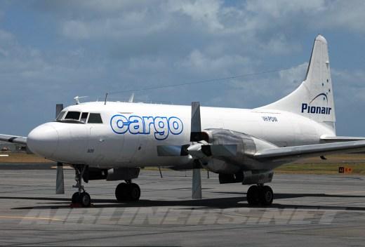 Pionair Australia Convair VH-PDW cargo aircraft.
