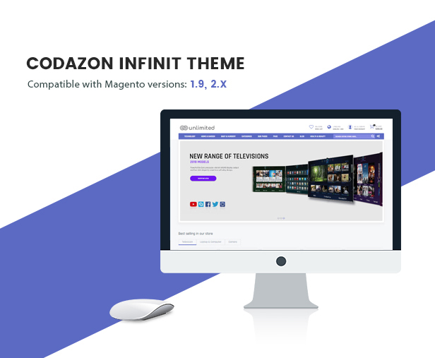 Infinit - Magento 2 & 1.9 with 15 unique web pages - Welcome