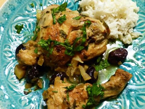 hähnchentajine mit oliven und eingelegten zitronen