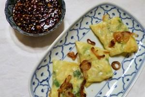 teigtaschen und sambal