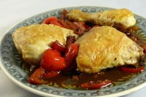 hühnchen mit chili und paprika