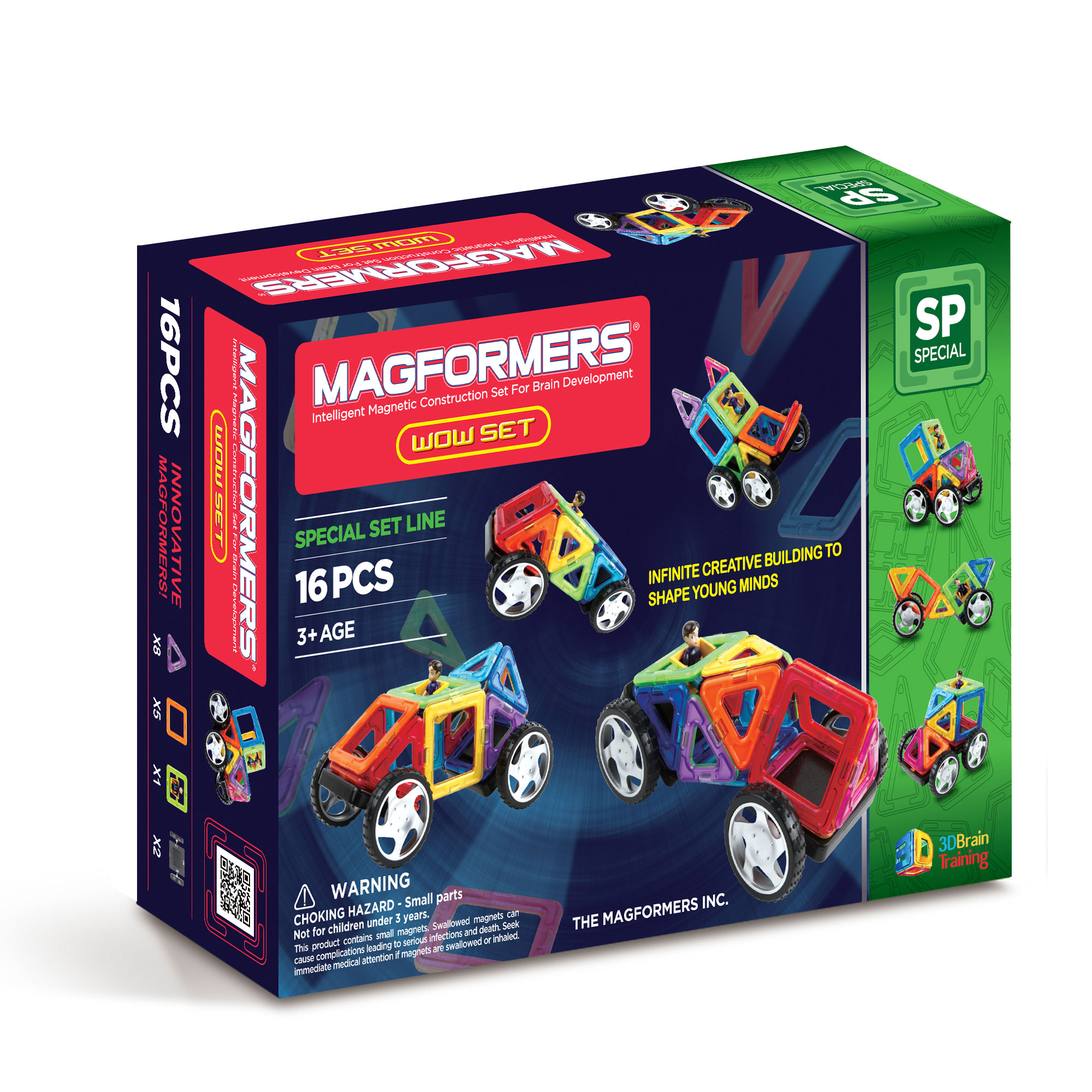Magformers Wow Set 16 Buy Online Magnetic Construction
