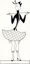 One of Miss Fish's drawings of Eve, from the popular Tatler column