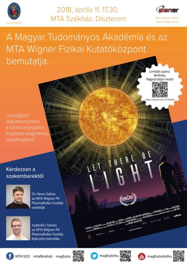 Let there be light hungarian poster