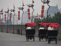 On top of a city wall in Xian