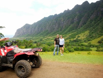 We took ATV's and got to see some Hawaiian countryside.