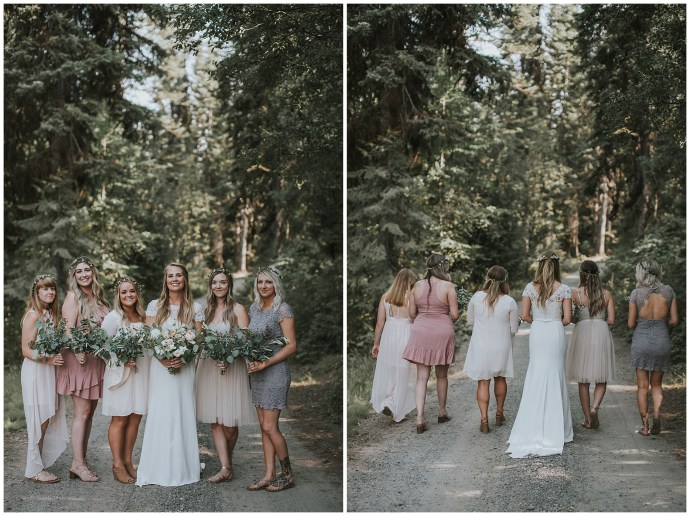 Boho Bridesmaids in McCall idaho