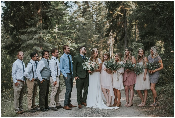 Boho Wedding Party McCall Idaho