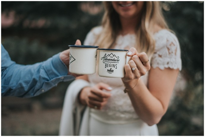 Adventure Begins Mugs Wedding