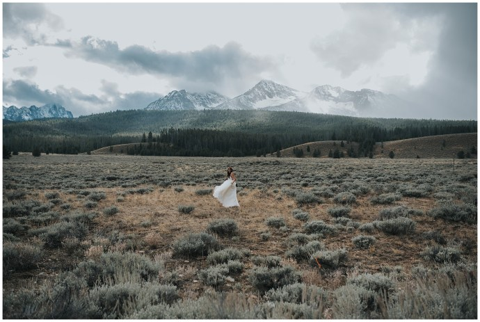 Sawtooth mountains wedding