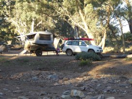Creek-side camping amongst river red gums.