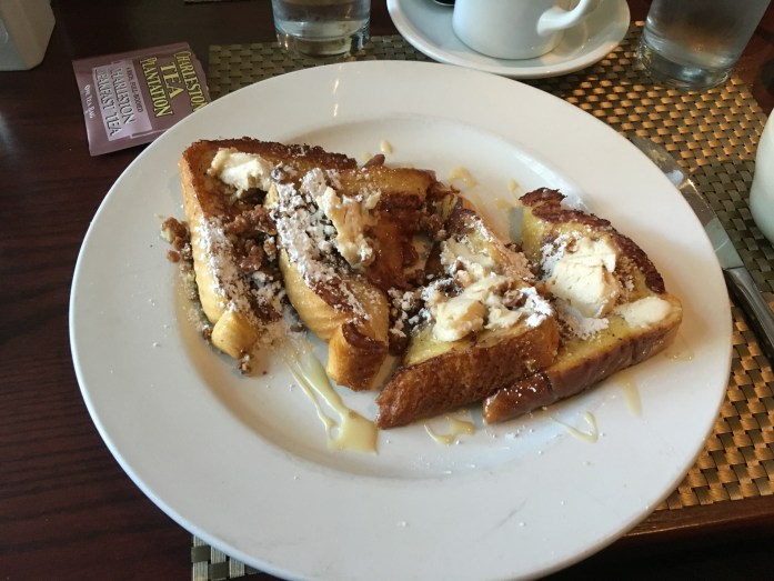 Praline french toast at Eli's Table