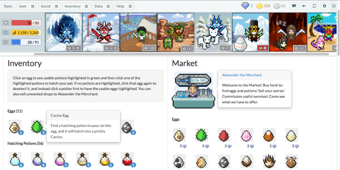 Sample Screen - Market