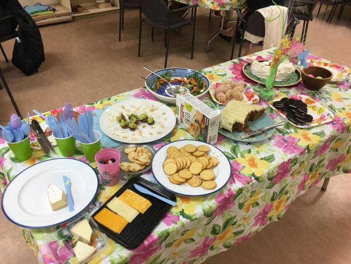 As you can see, they were so popular that I wasn't able to get a photo of our spread at the pot luck before they were nearly gone!