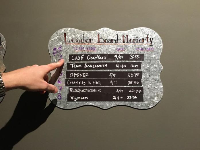 moriarty room leader board