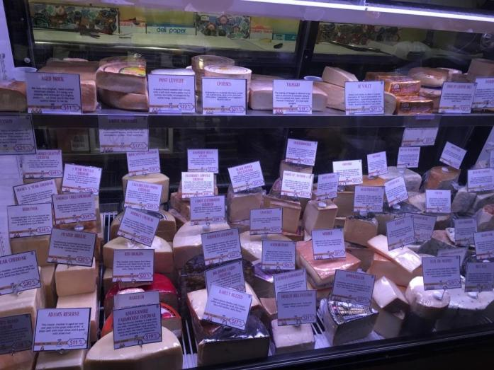 Cheese case at Cheesetique
