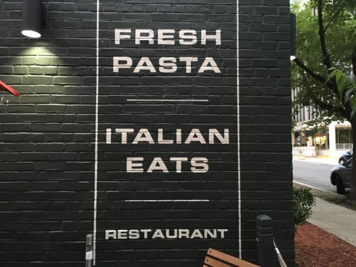 Hank's Pasta Bar outdoor sign
