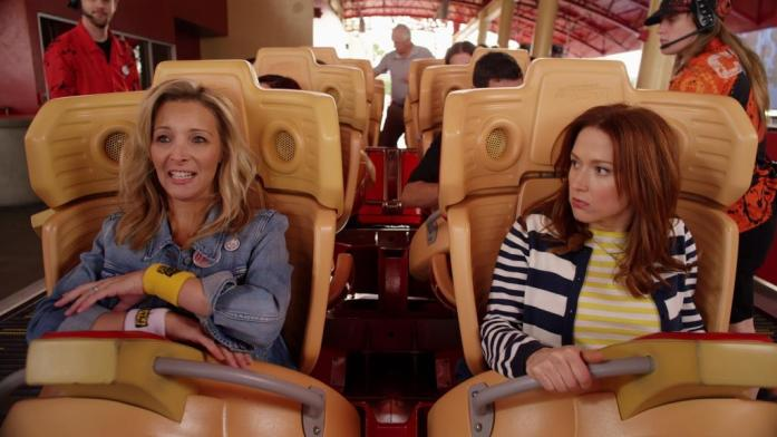 Kimmy on a roller coaster!