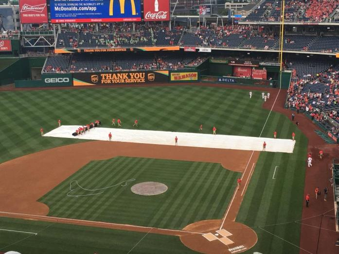 Grounds crew tarp