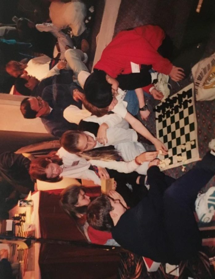Chess nerds!  I'm in the white turtleneck.