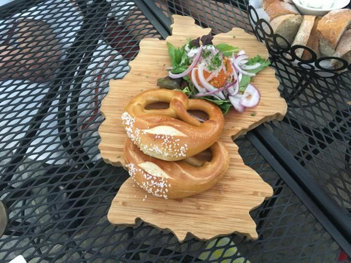 Pretzel board - in the shape of Germany!