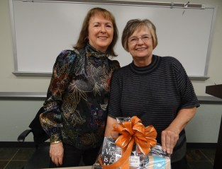 Me with Cheryl Kapec, winner of the Book Lover's basket