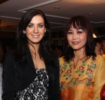 Maggie Loo with Natalie Gleboba Miss Universe 2005