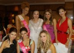 Maggie Loo with some of the finalists of Miss Tourism International 2011