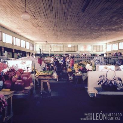 El mercado central León Nicaragua