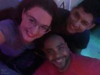 Ich mit meinen 2 Schneggalen, Noel und Carlos