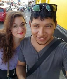 Noel und ich beim Einkaufsbummel