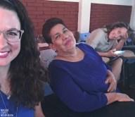ich, Noels Mama und Marianka bei Noels Bachelorpräsentation