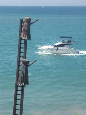 The ladder sculpture