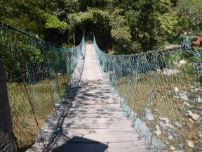Yes I went over this very bouncy bridge