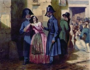 Arrest of a Prostitute by the Police by Jules David