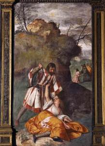 Miracle of the Jealous Husband by Titian (1511)