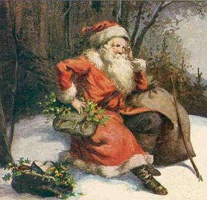 Saint Nicholas with holly
