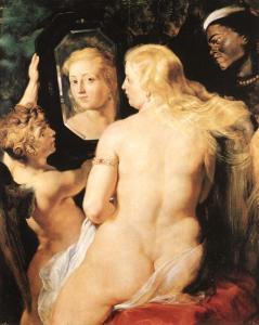 Venus At Her Mirror by Peter Paul Rubens (1615)