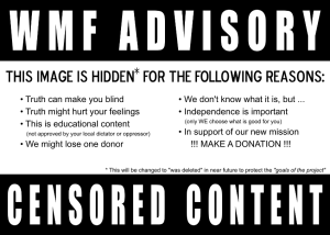 Censored content warning