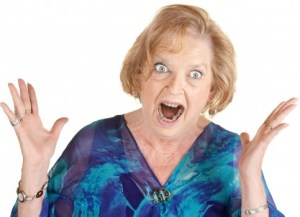 furious old woman
