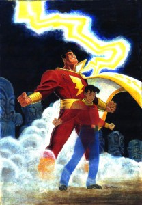 Billy Batson becomes Captain Marvel
