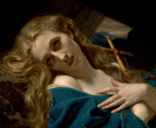 Mary Magdalene in the Cave by Hugues Merle (1868)