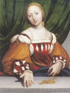 Lais of Corinth by Hans Holbein the Younger (1526)