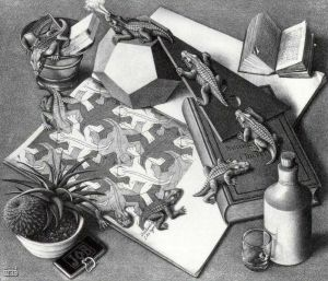 Reptiles by MC Escher (1943)