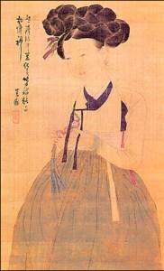 Hwang Jini (portrait from Korean textbook, c. 1910)