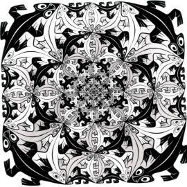Smaller and Smaller by MC Escher (1956)