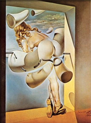 Young Virgin AutoSodomized by Her Own Chastity by Salvador Dali (1954)